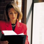 Woman reading Family Trust Documents
